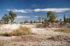 opal fields - stock photo