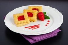 Belgium waffles Stock Photos