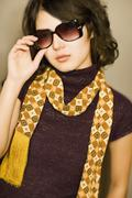 Asian woman wearing sunglasses Stock Photos