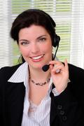 Customer service agent Stock Photos