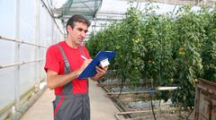 Stock Photo of Greenhouse Worker