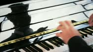 Pianist reflection detail Stock Footage