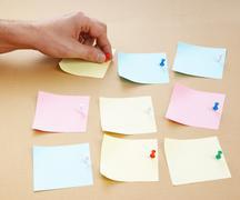 Reminder notes Stock Photos