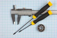 technical tools - stock photo