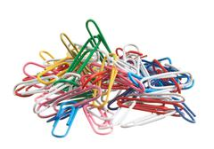 pile of paperclips - stock photo