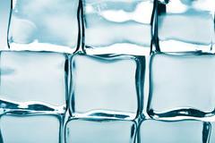 Ice cubes background Stock Photos