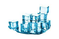 ice cubes isolated - stock photo