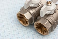 Water inlet valve Stock Photos