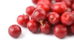 ripe cranberries isolated - stock photo