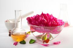 aromatherapy set - stock photo