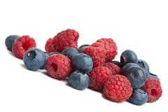 fresh berries isolated - stock photo