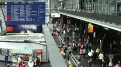 Luzern Switzerland Train Station Stock Footage