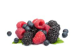 fresh berries isolated - stock photo