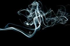 abstract grey smoke isolated - stock photo