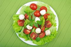 Stock Photo of salad with tomatoes and mozzarella