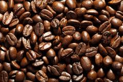 Stock Photo of roasted coffee beans background