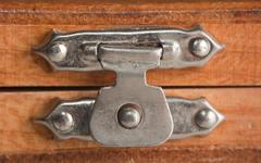 Stock Photo of lock on a wooden box