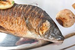 fried fish - stock photo