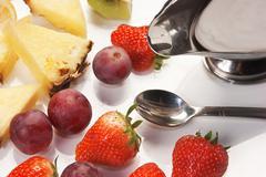 dessert of fruit - stock photo