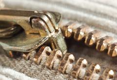 locking zipper - stock photo