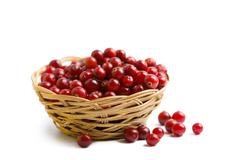 Stock Photo of ripe cranberries isolated