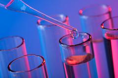 test tubes and pipette - stock photo