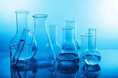 Chemical laboratory equipment Stock Photos