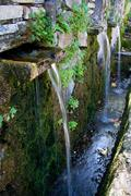 Stock Photo of fountain in rocks