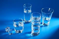 glasses of water - stock photo
