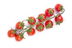ripe tomatoes isolated - stock photo