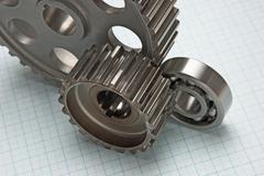 gears and bearings - stock photo