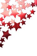 Holiday red stars isolated Stock Photos