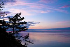 evening seascape - stock photo