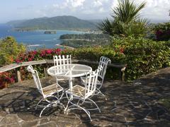 jamaican patio - stock photo