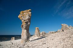 limestone pillars - stock photo