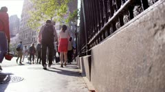 Commuters on Busy City Streets Stock Footage