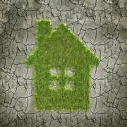 House shaped grass patch Stock Illustration