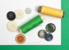 Various sewing accessorie Stock Photos
