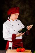 Stock Photo of chef somelier - christmas