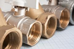 water inlet valve - stock photo