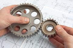 technical drawing - stock photo