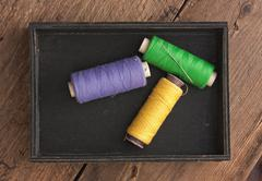 Stock Photo of still life of spools of thread