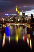 Frankfurt skyline Stock Photos