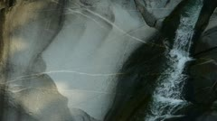 Mountain waterfall stream,stone texture mechanism. Stock Footage
