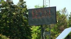 Bridge construction sign flash Cape Cod Stock Footage