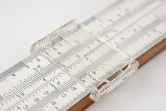 vernier scale logarithmic ruler - stock photo