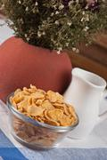 Cornflakes on the table Stock Photos