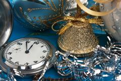 Stock Photo of christmas decoration and pocket watches