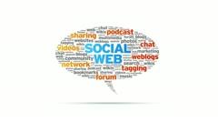 Social Web Speech Bubble Stock Footage
