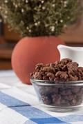 Chocolate cornflakes on the table Stock Photos